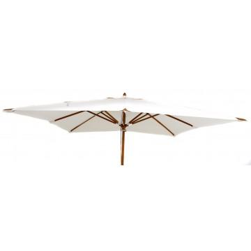 Parasol en bois carré 300 x 300 cm luxe