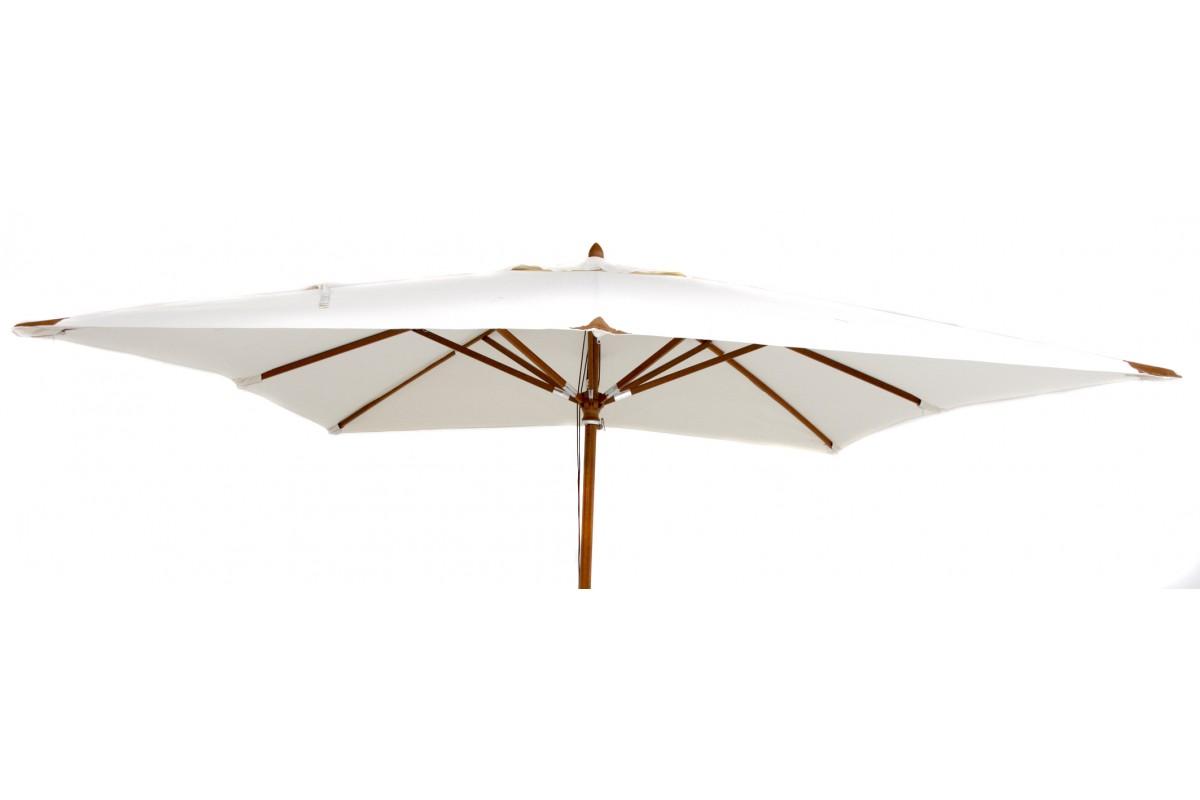 parasol en bois carr 300 x 300 cm luxe la galerie du teck. Black Bedroom Furniture Sets. Home Design Ideas