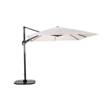 Parasol en alu diamètre 300 cm, pôle libre, modèle Los Angeles Luxe