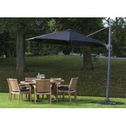 Parasol luxe en alu diamètre 350 cm avec manivelle