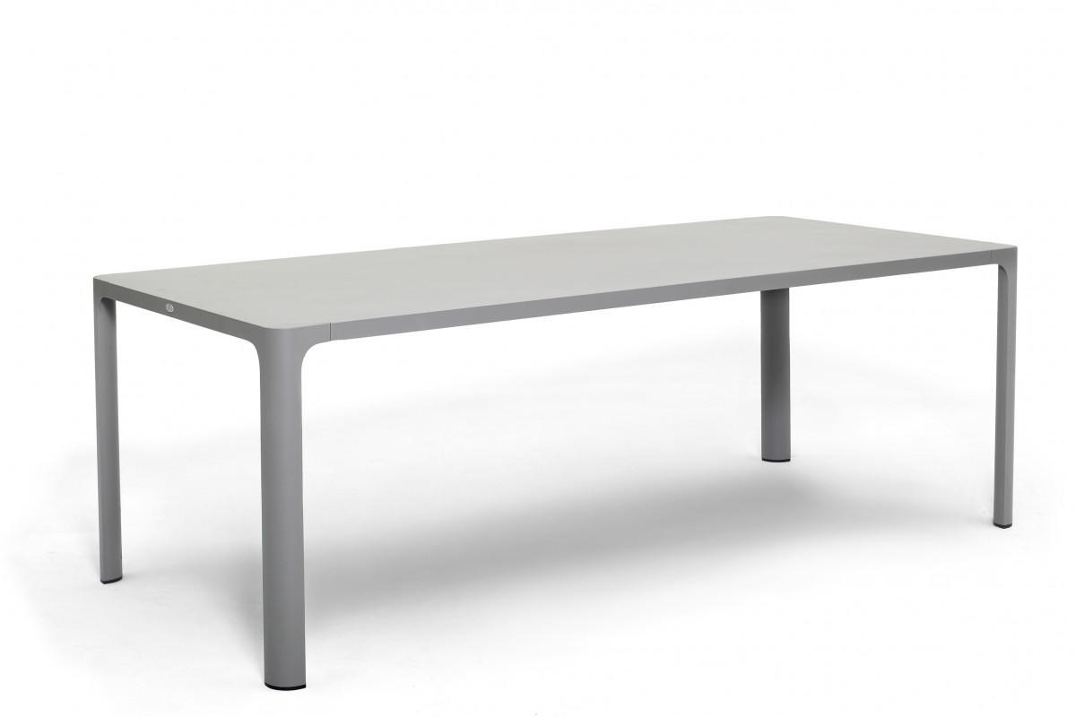 table rectangulaire en alu gris mod le rennes la galerie du teck. Black Bedroom Furniture Sets. Home Design Ideas