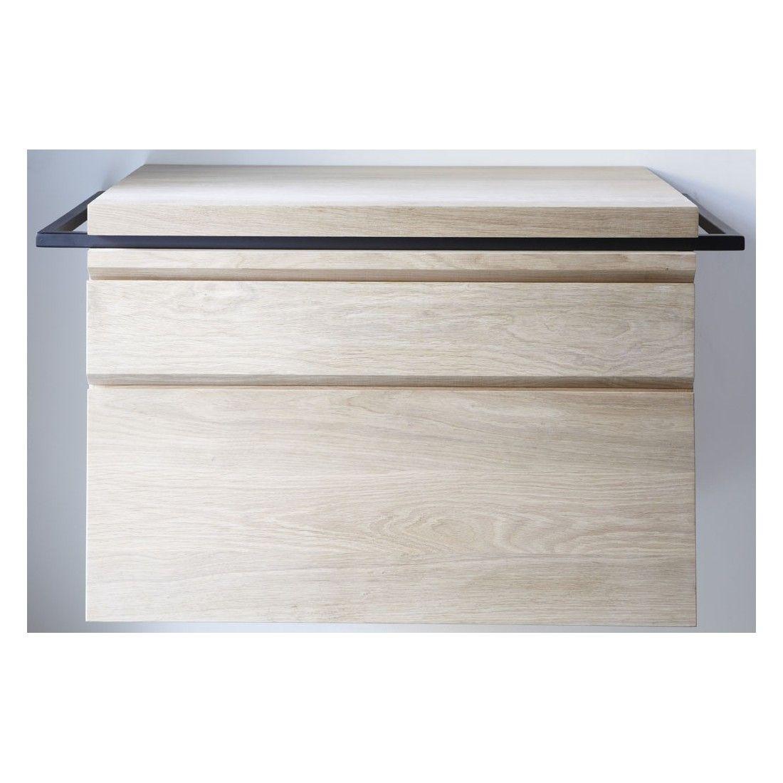 Meuble une vasque en chêne avec tiroir