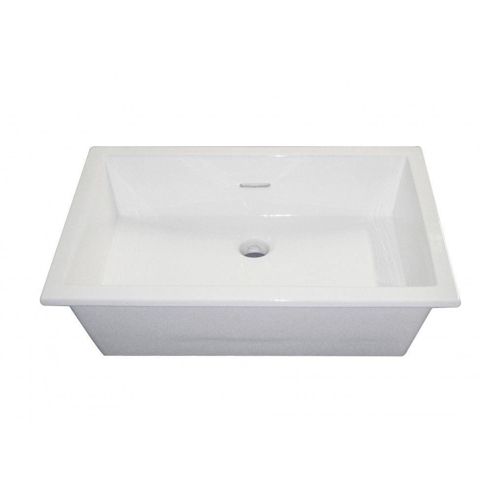 Vasque à encastrer blanche 53 cm Soprapiano, format rectangulaire