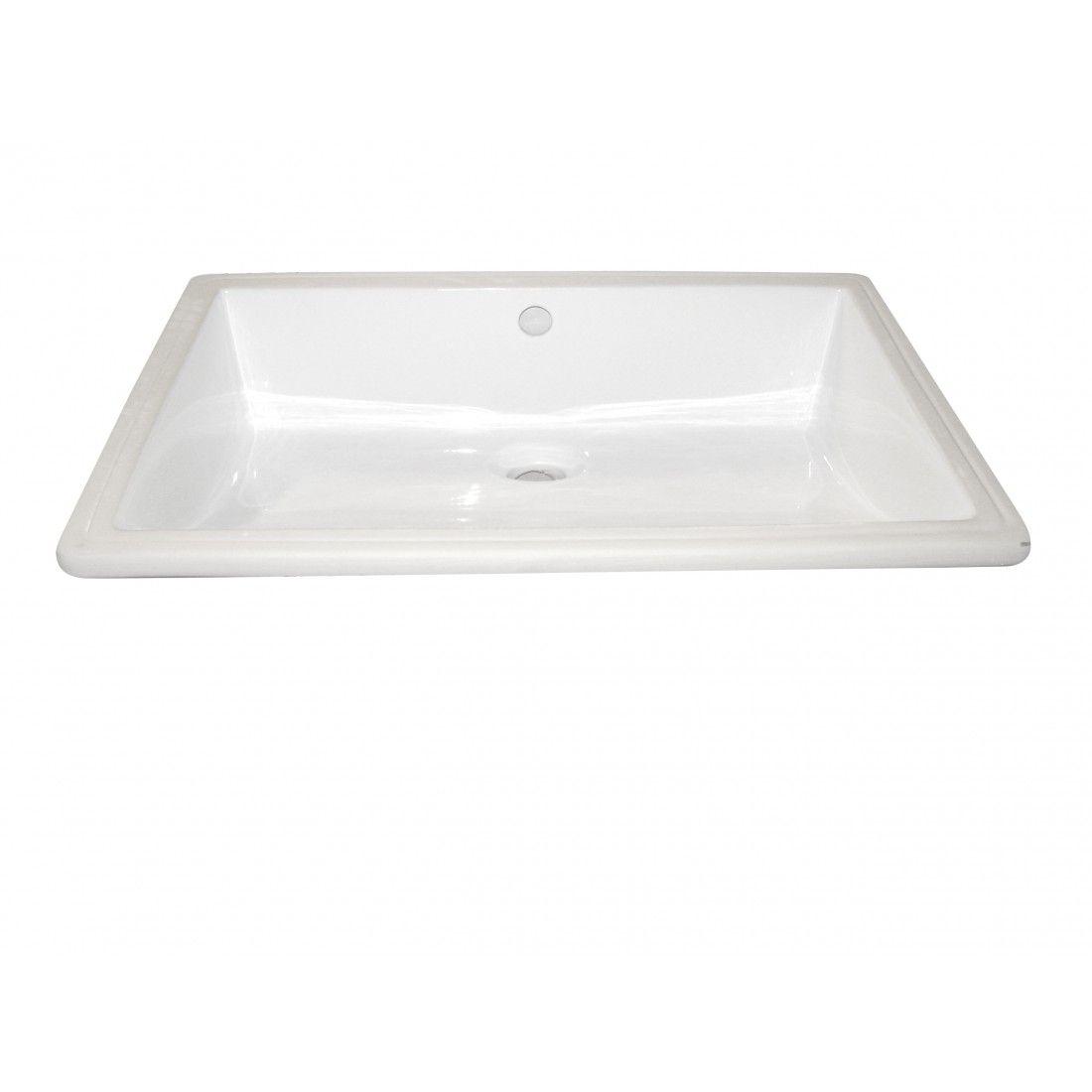 Vasque à encastrer blanche 55,5 cm Sottopiano, format rectangulaire