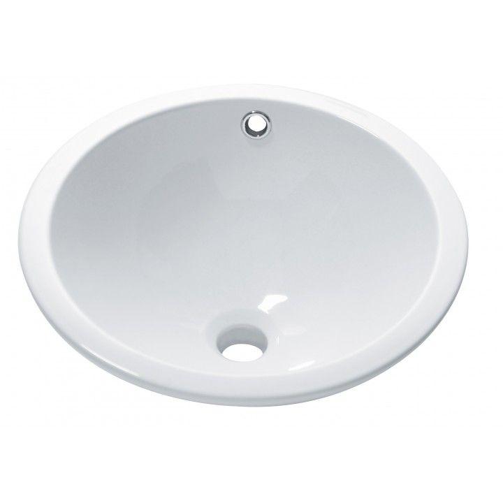 Vasque ronde à encastrer blanche Soprapiano