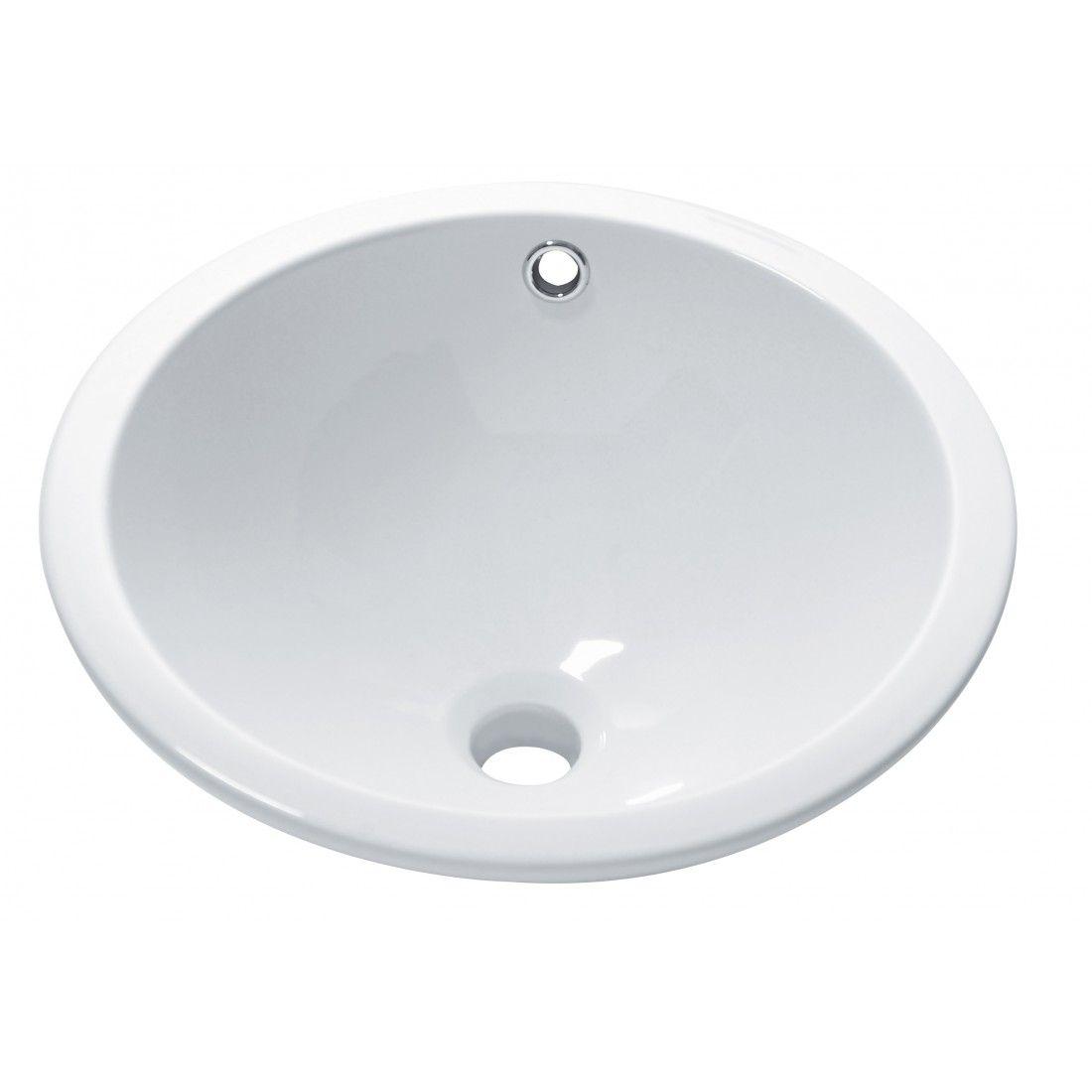 Vasque ronde à encastrer dessous blanche 42 cm Sottopiano