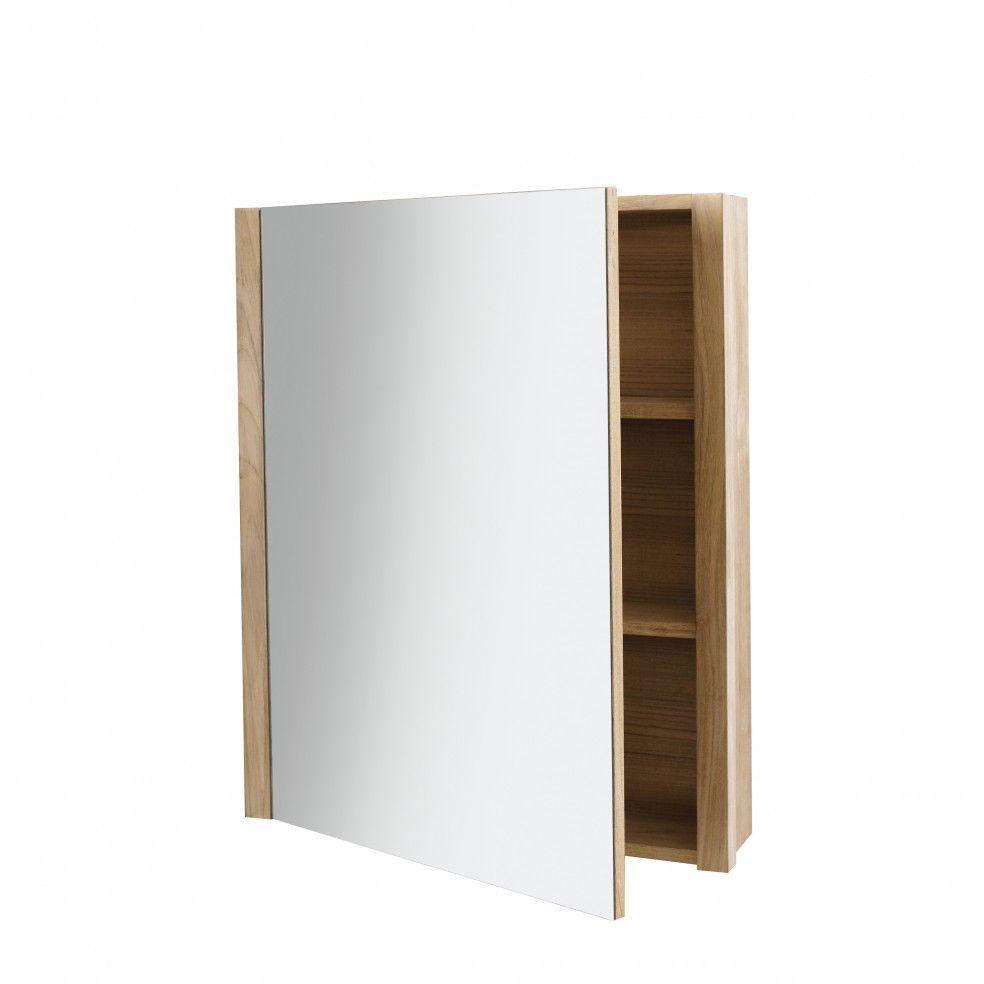 armoire de toilette en ch ne 65 cm la galerie du teck. Black Bedroom Furniture Sets. Home Design Ideas