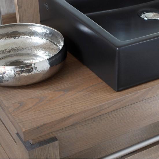Meuble 1 vasque chêne massif, gamme Origin de Line Art