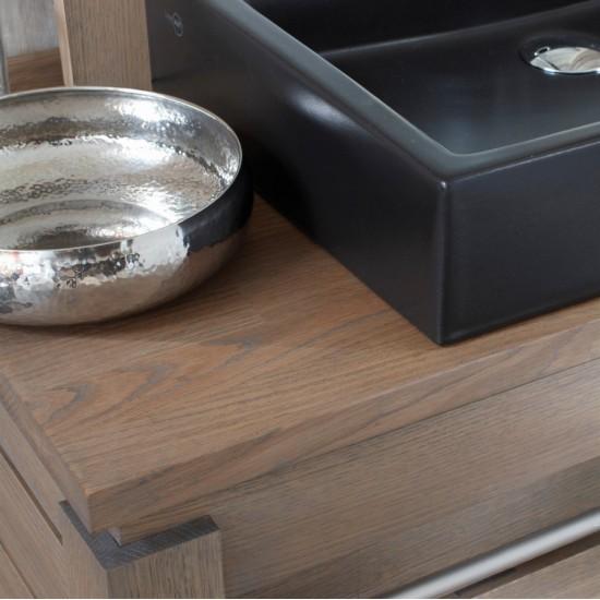 Meuble 2 vasques chêne massif, gamme Origin de Line Art