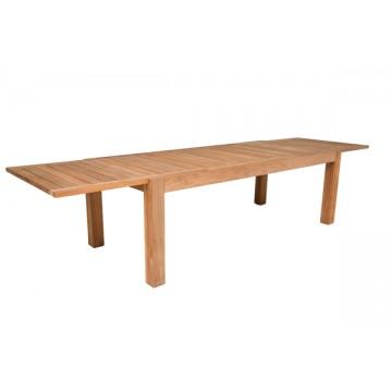 Table en teck massif pour le repas l 39 ext rieur la galerie du teck for Grande table de jardin en teck