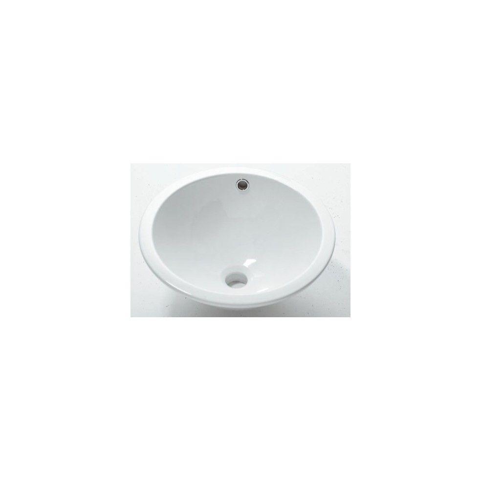 vasque encastrer ronde en c ramique 42 cm mod le. Black Bedroom Furniture Sets. Home Design Ideas