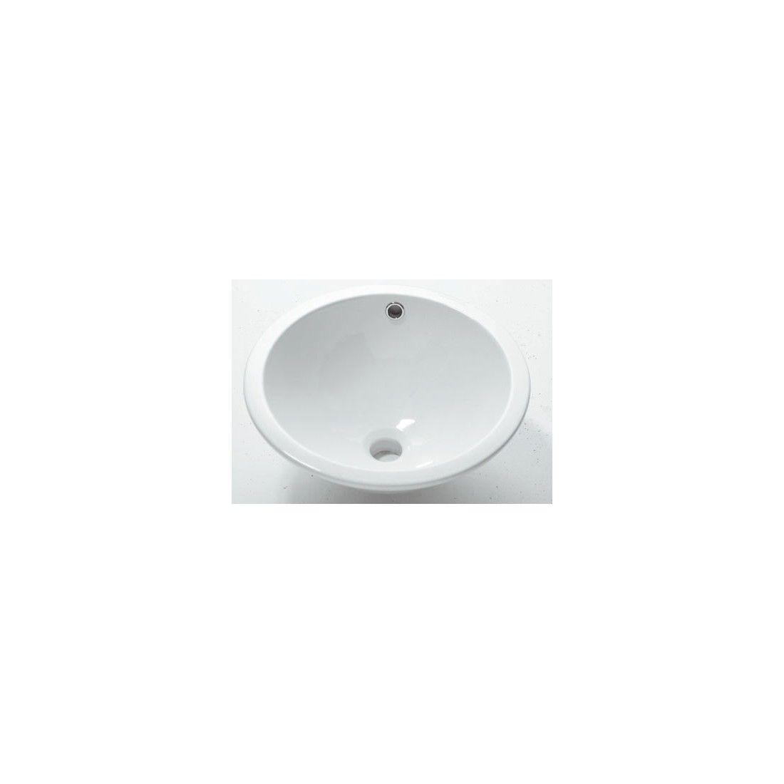 Vasque à encastrer ronde en céramique 42 cm, soprapiano