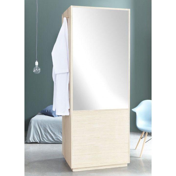 Cabinet de toilette mural en chêne