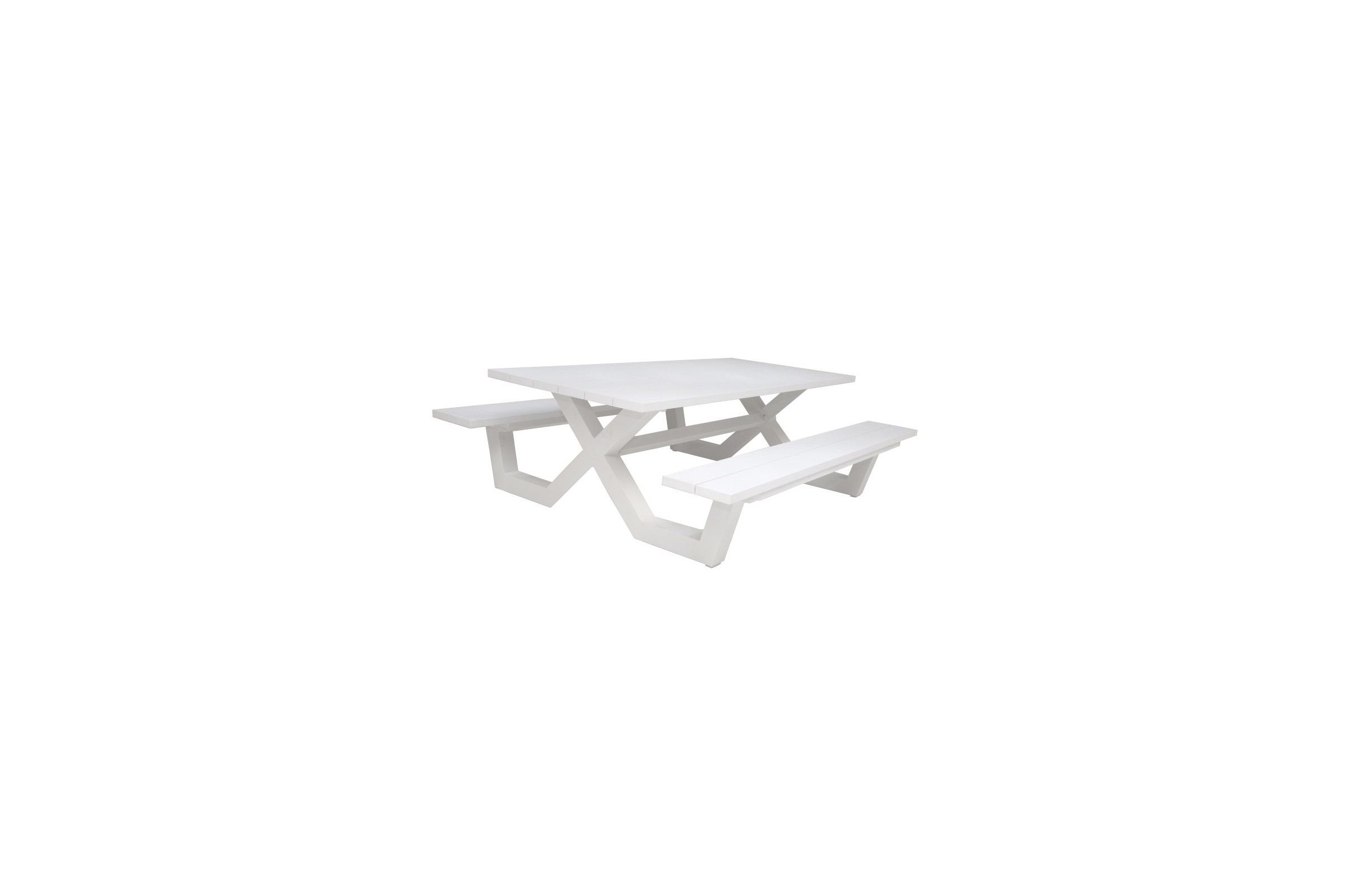 table picnic en aluminium blanc ou charcoal 220 cm. Black Bedroom Furniture Sets. Home Design Ideas