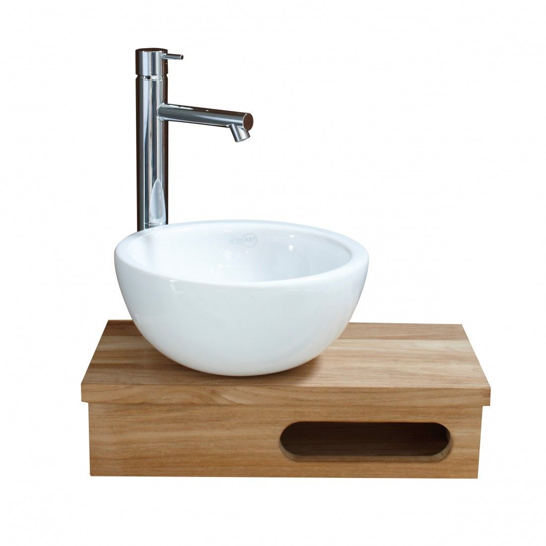 Vasque à poser blanche et ronde 25,5 cm