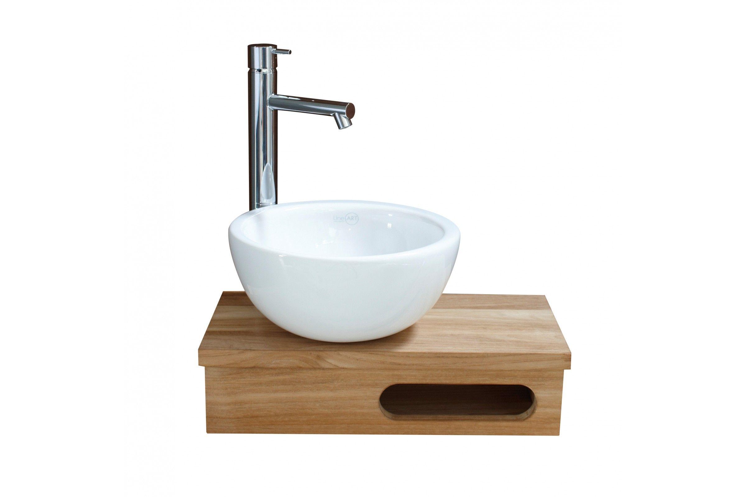 Vasque lave mains ronde D 25,5 cm en céramique blanche ou noire