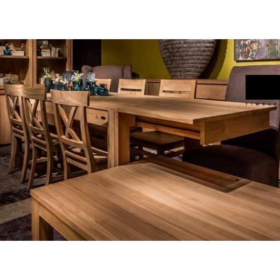 Table repas rectangulaire 160 cm en teck massif, Exquise