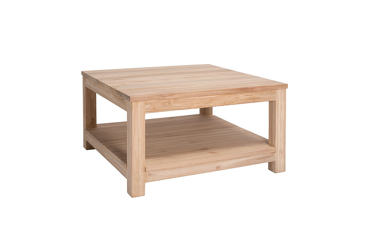 Table basse carree en teck for Ikea table basse carree