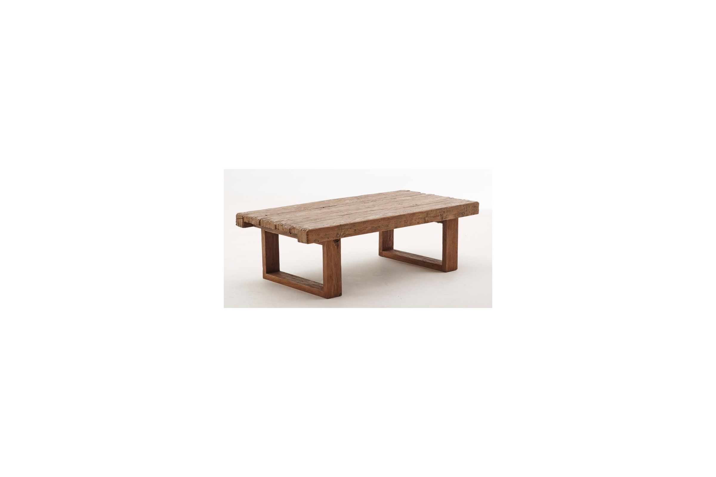 Table basse en teck ancien 130 cm la galerie du teck - Table basse de salon en bois ...