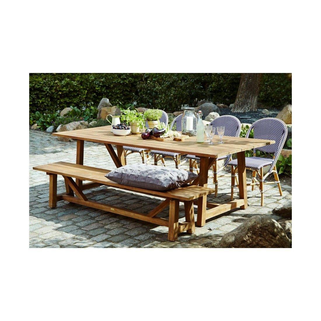 Banc de table de jardin en teck ancien 220 cm