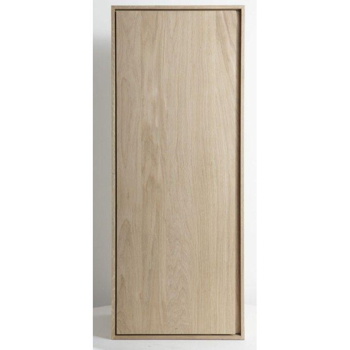 Colonne suspendue 1 porte en chêne massif 100 cm