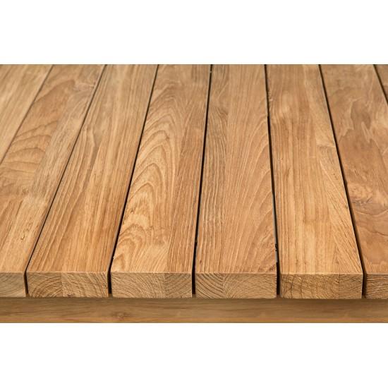 Table haute en teck massif