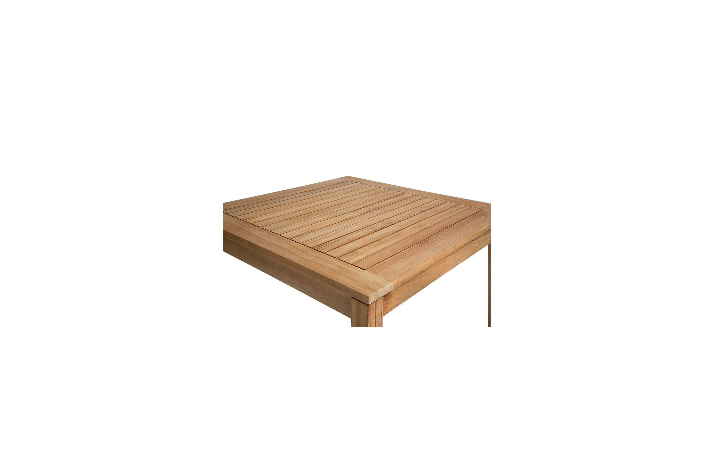 Beautiful table de jardin teck carree ideas amazing for Banc en teck pour jardin
