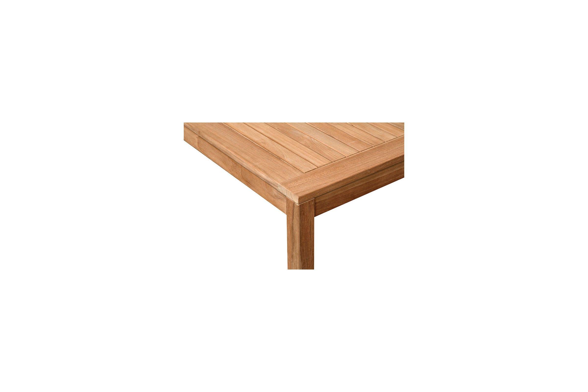 Table de jardin carrée en teck massif 80 ou 90 cm, Calida