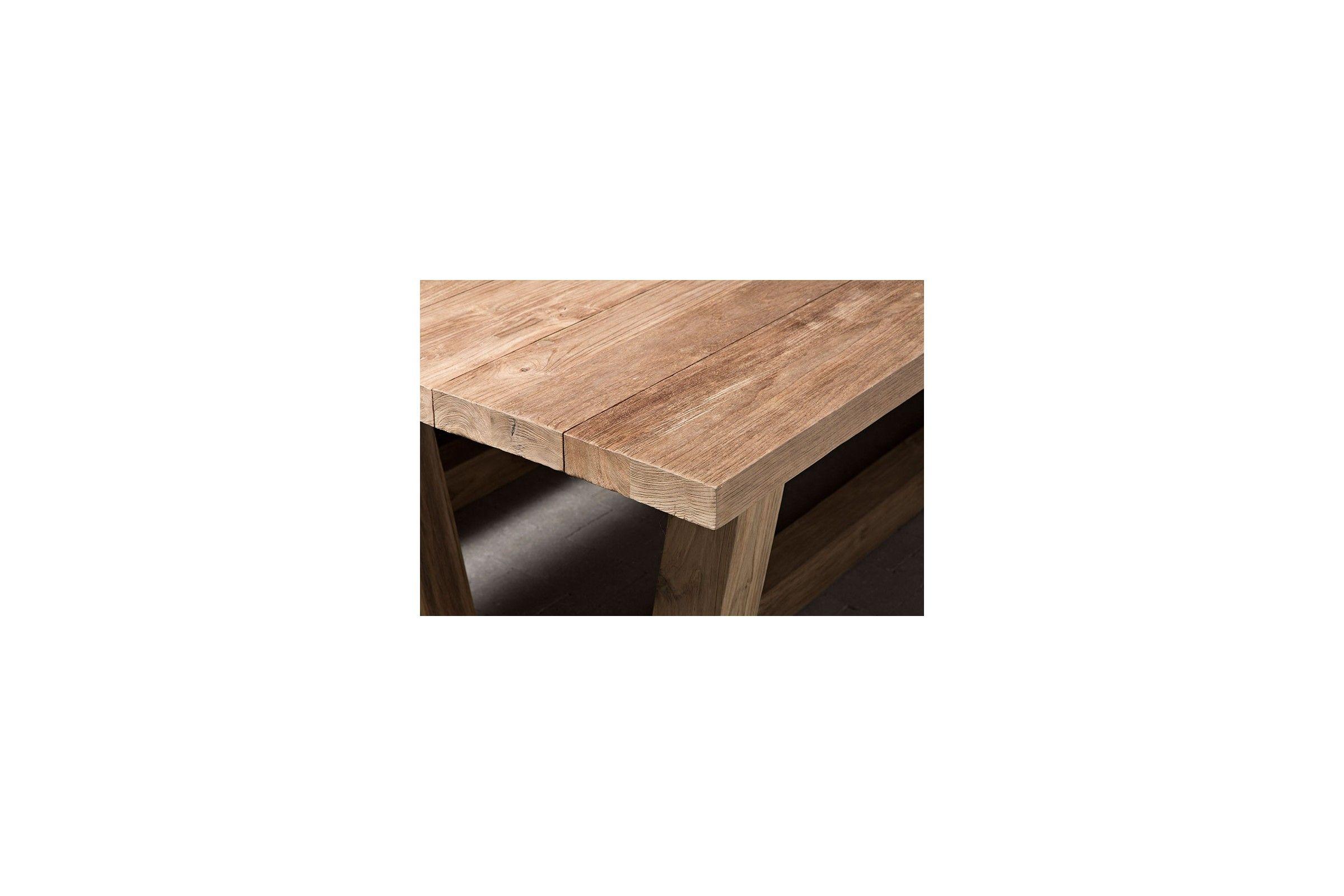 table en vieux teck massif 250 cm dundee. Black Bedroom Furniture Sets. Home Design Ideas