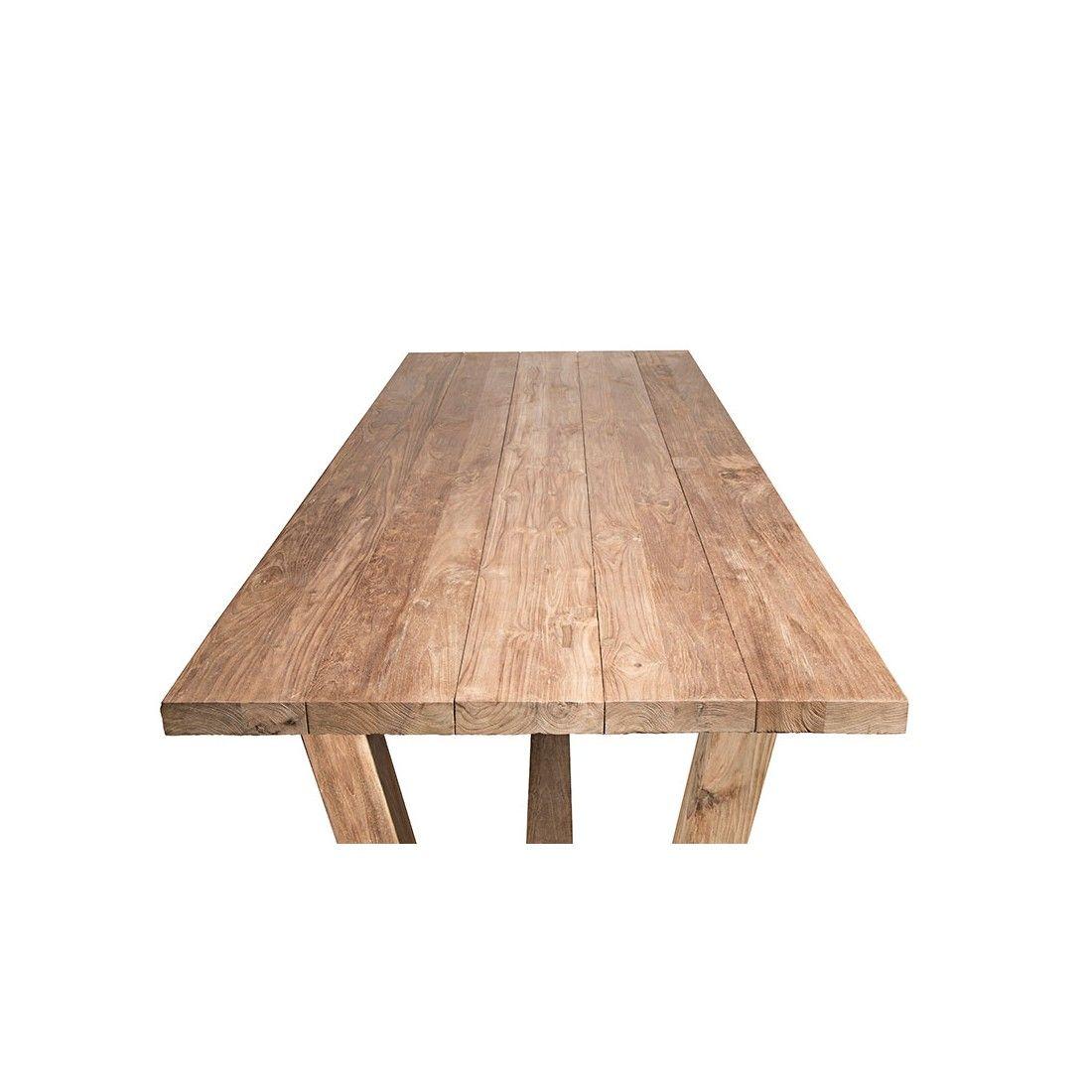 Table en vieux teck massif 250 cm, Dundee
