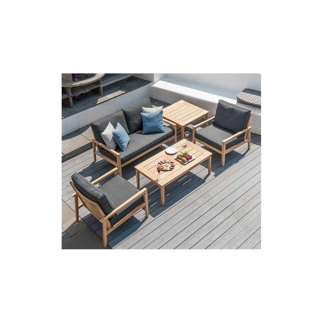 Table basse carrée en bois pour salon de jardin, haut de gamme