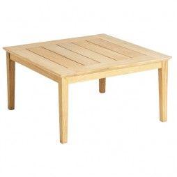 Table basse carrée 80 cm en bois pour salon de jardin