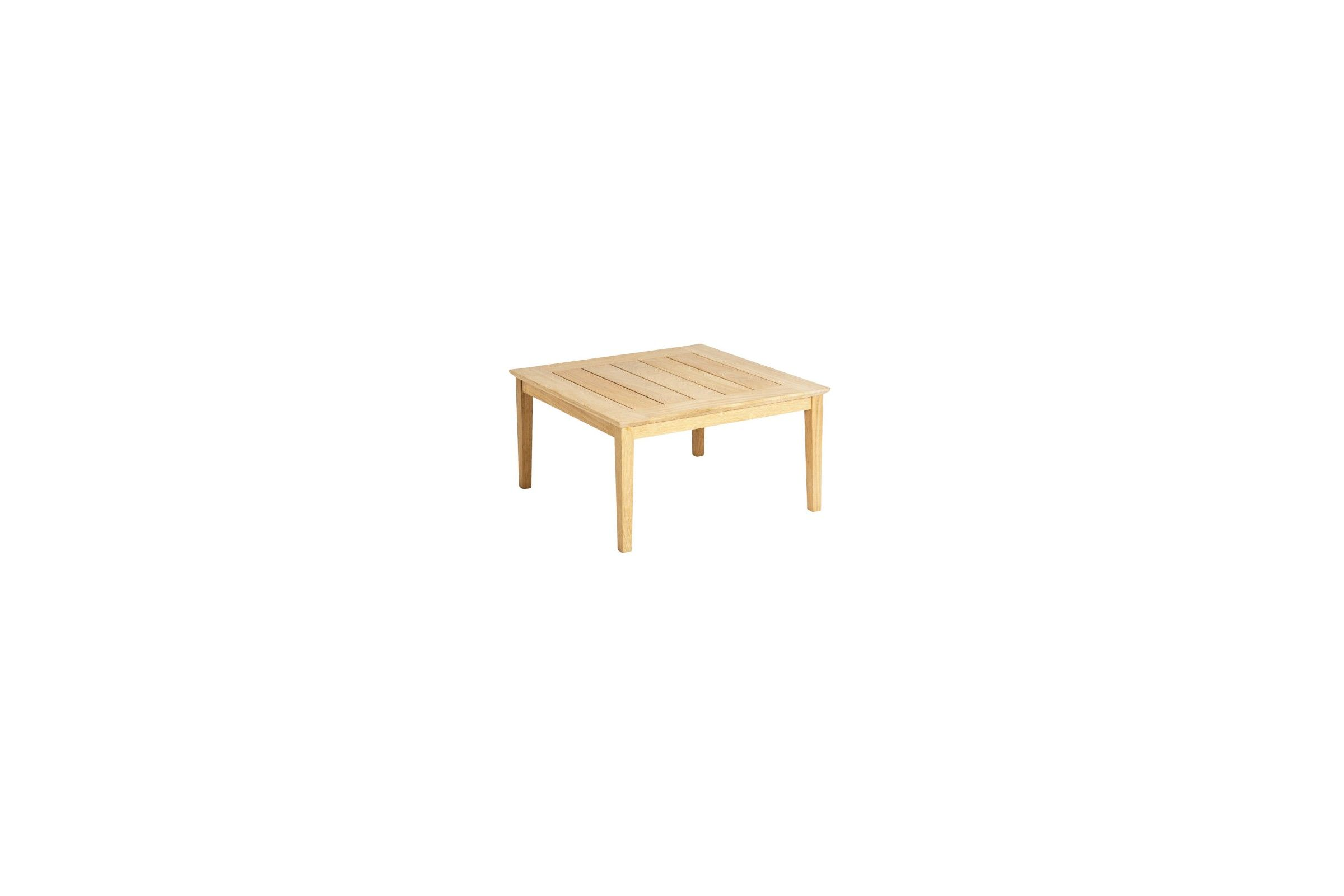 table basse carr e 80 cm en bois pour salon de jardin la galerie du teck. Black Bedroom Furniture Sets. Home Design Ideas