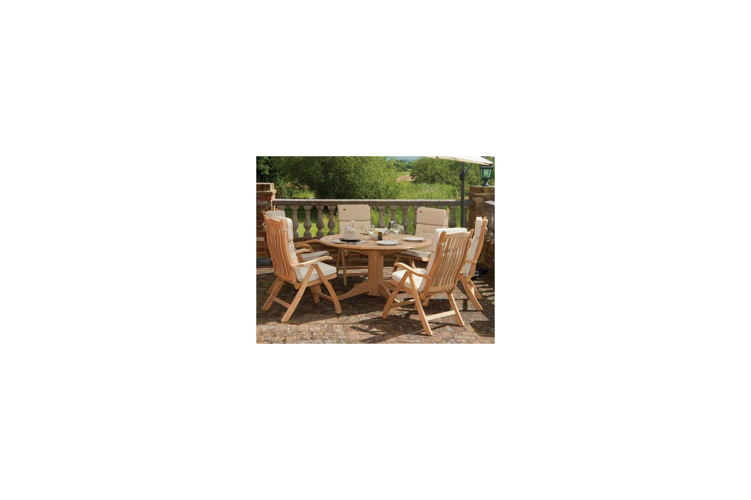 Table de jardin bois ronde | Optimisatrice