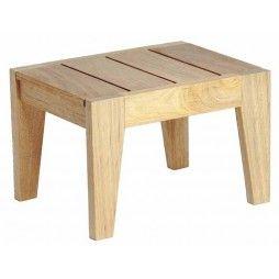 Petite table basse en bois pour bain de soleil, haut de gamme