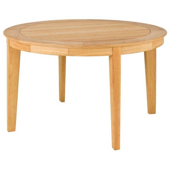Table de jardin ronde 125 cm en bois massif, haut de gamme