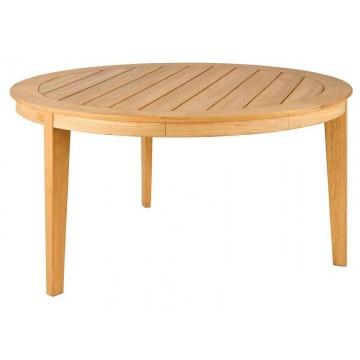 Table de jardin ronde 160 cm en bois massif, haut de gamme