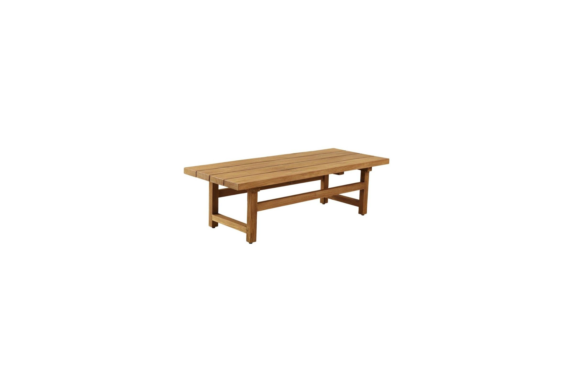 Table basse de jardin en teck massif ancien 154 cm la for Table basse en teck massif