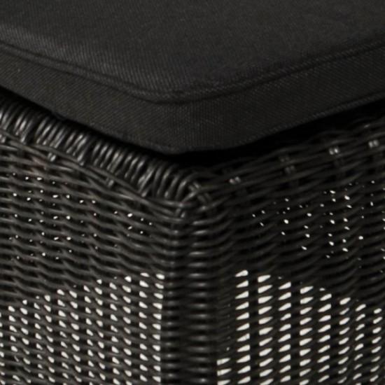 Chaise en résine tressée ronde, ton naturel, gris ou noir