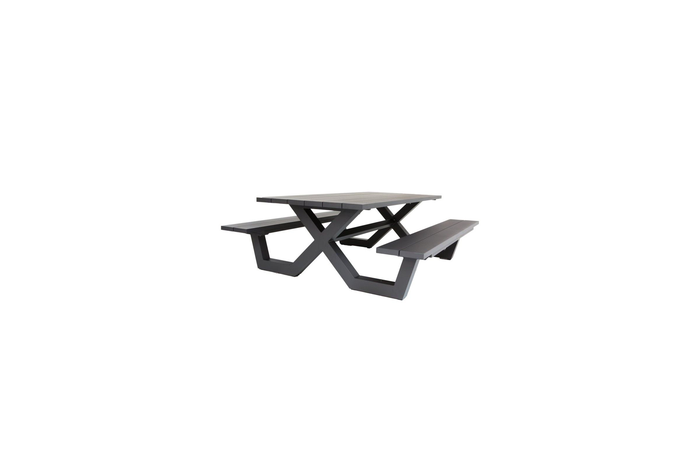 table picnic en aluminium blanc ou charcoal 220 cm bonucci la galerie du teck. Black Bedroom Furniture Sets. Home Design Ideas