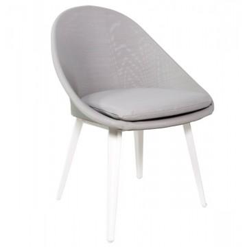 Chaise alu et textylène avec coussin intégré