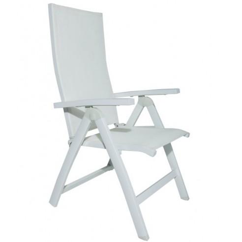 Lot de 2 fauteuils de jardin blanc, réglables