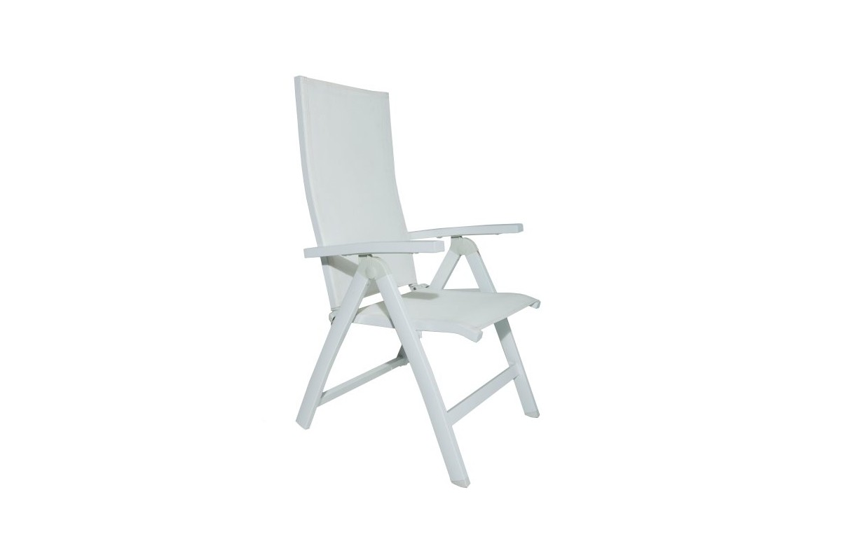 fauteuil de jardin r glable en aluminium et textyl ne. Black Bedroom Furniture Sets. Home Design Ideas