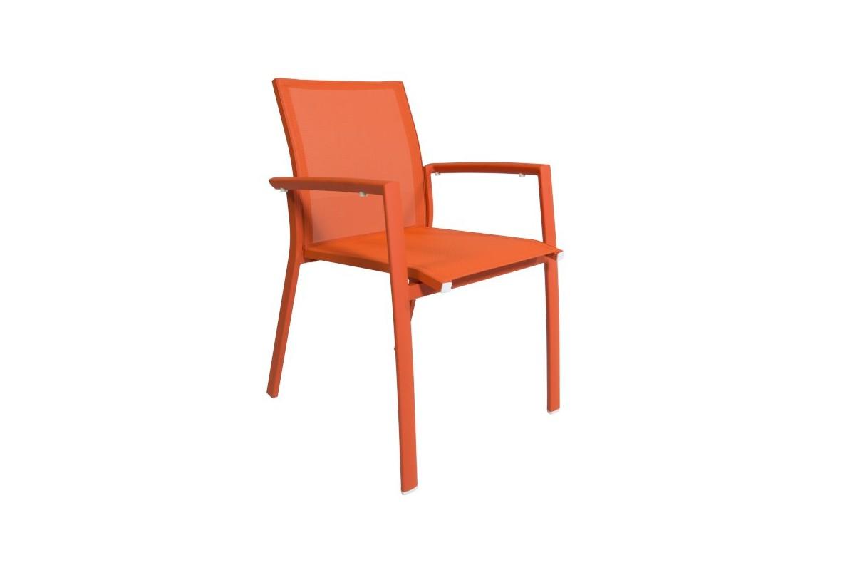 chaise empilable en alu et textyl ne rimini la galerie du teck. Black Bedroom Furniture Sets. Home Design Ideas