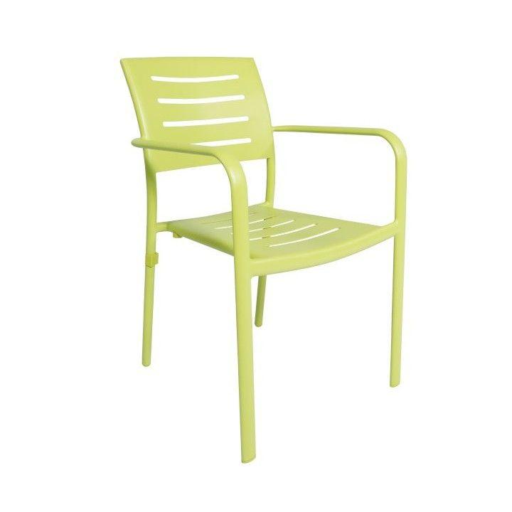 Chaise de jardin empilable en aluminium mat