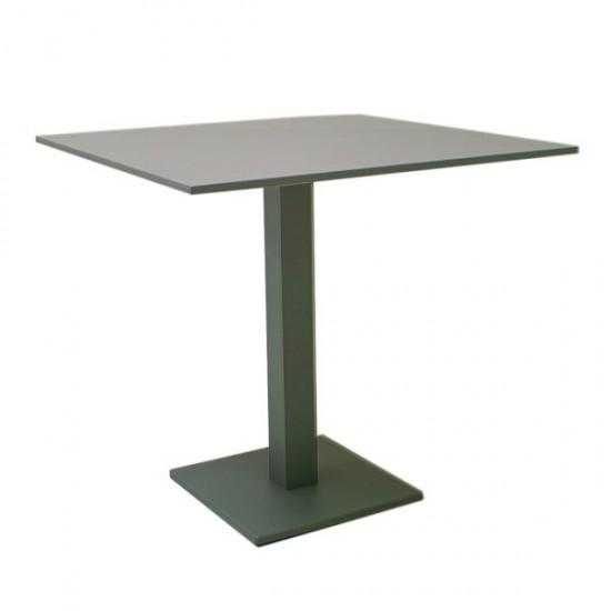 Table carrée en alu gris, Nant
