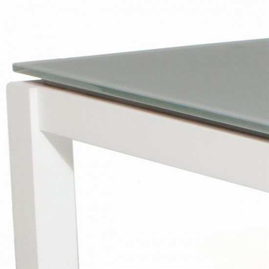Table de jardin design en aluminium et verre, Grana