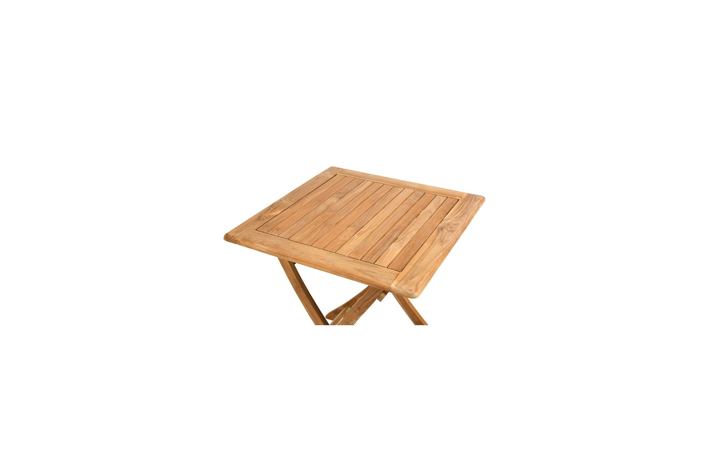 Petite table carr e 70 cm pliante en teck massif avignon for Table pliante en teck