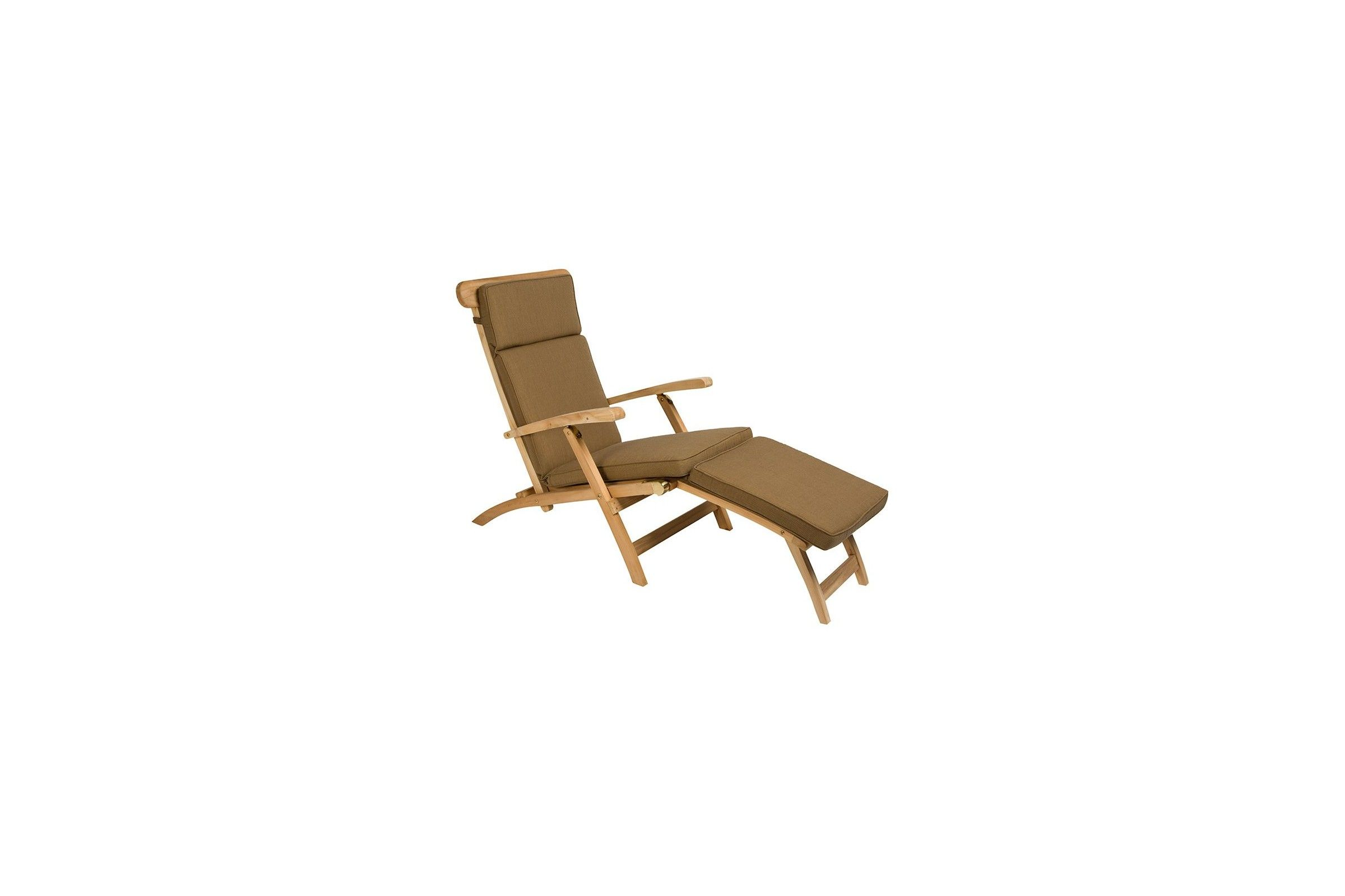Chaise longue pliante en teck massif steamer la galerie for Chaise pliante design