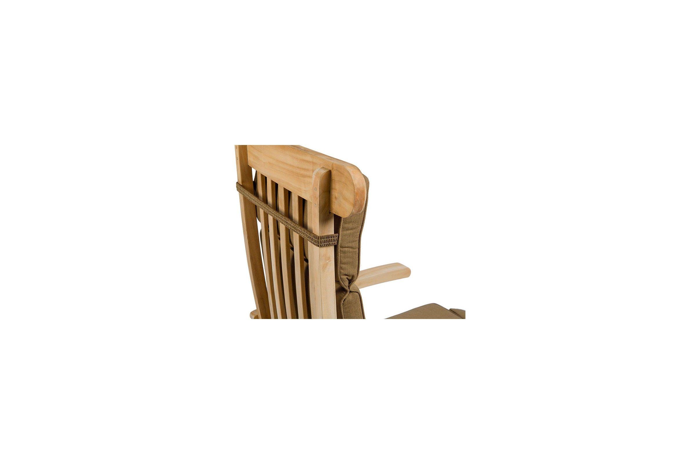 Chaise longue pliante en teck massif steamer la galerie for Chaise longue exterieur pliante